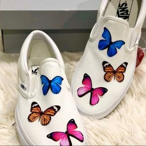 Custom butterfly 🦋 white vans
